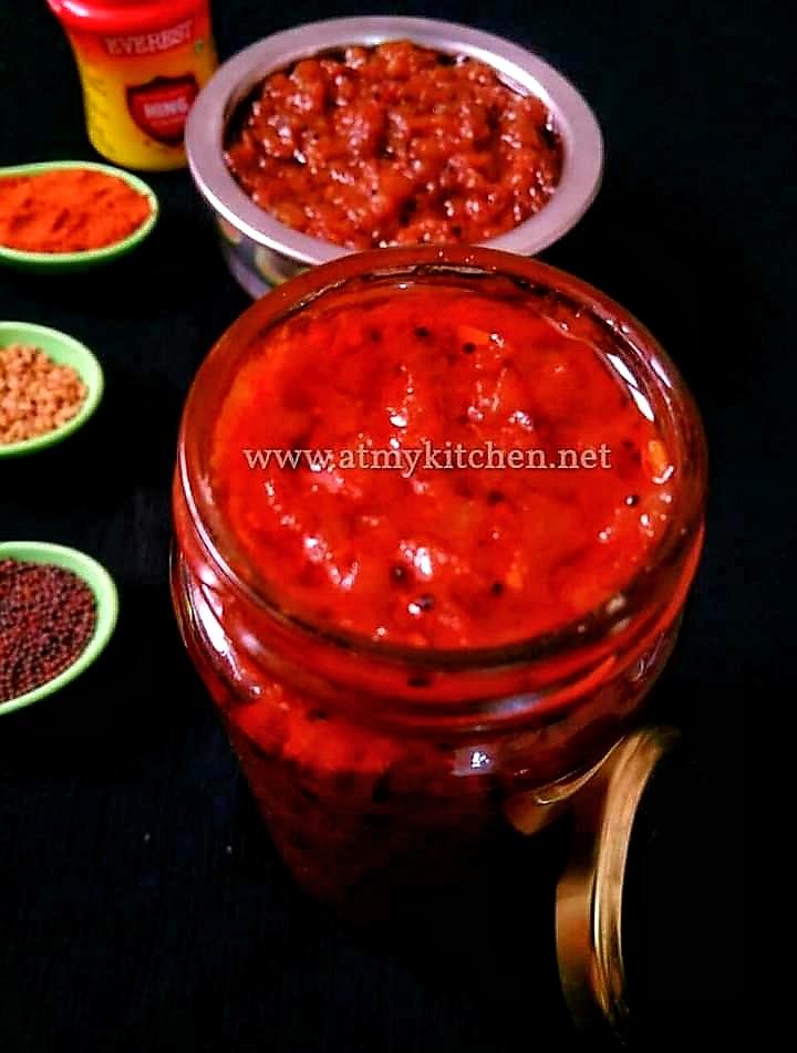 Mango thokku recipe/ Mango pickle recipe/ Grated raw mango pickle recipe