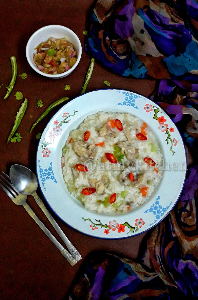 One Pot Chicken And Rice / Chicken And Rice Porridge
