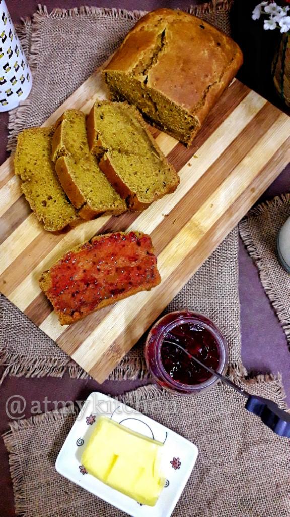 Quick Mango Bread / Eggless Mango Bread / Mango Bread Loaf