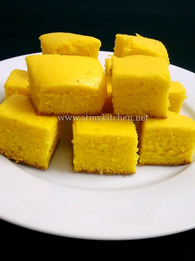 Custard powder cake recipe / Eggless custard powder cake recipe/ Eggless custard cake recipe