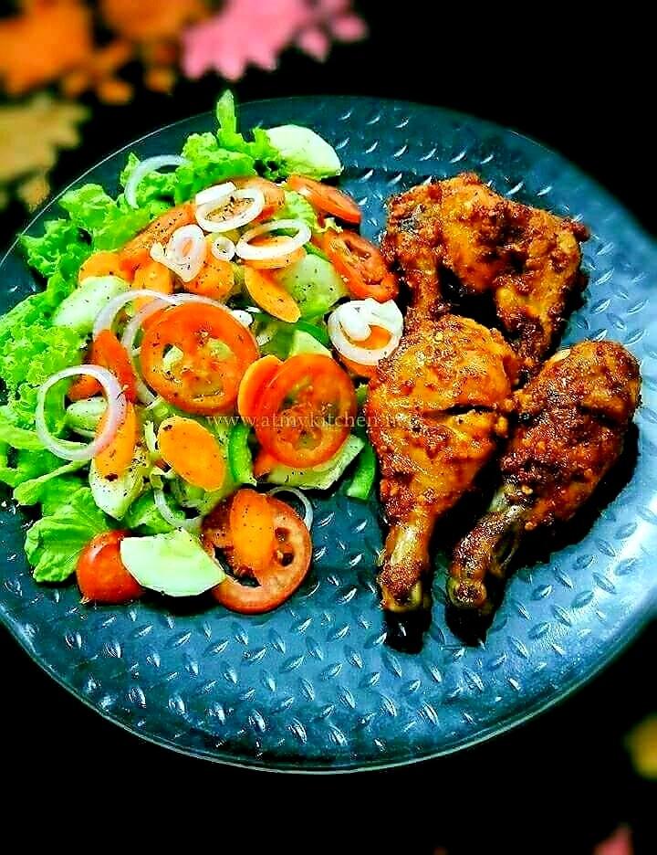 Peri Peri Chicken With Veggie Salad