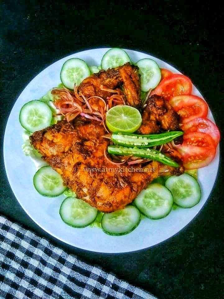 Tandoori chicken recipe / How to make tandoori chicken without tandoor/ Oven baked tandoori chicken recipe