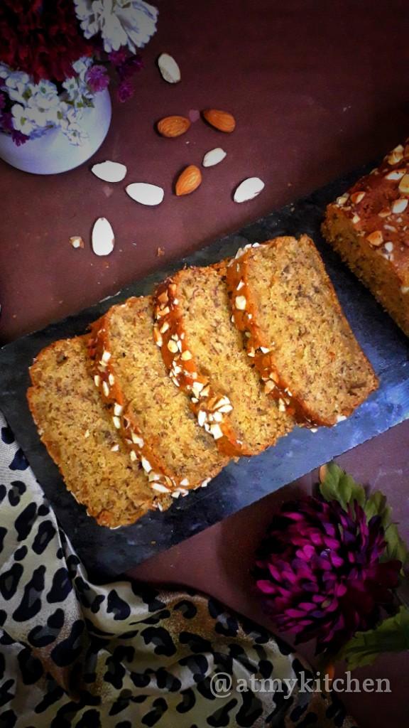 Whole Wheat Banana Nut Bread / Banana Nut Bread / Banana Nut Loaf Cake