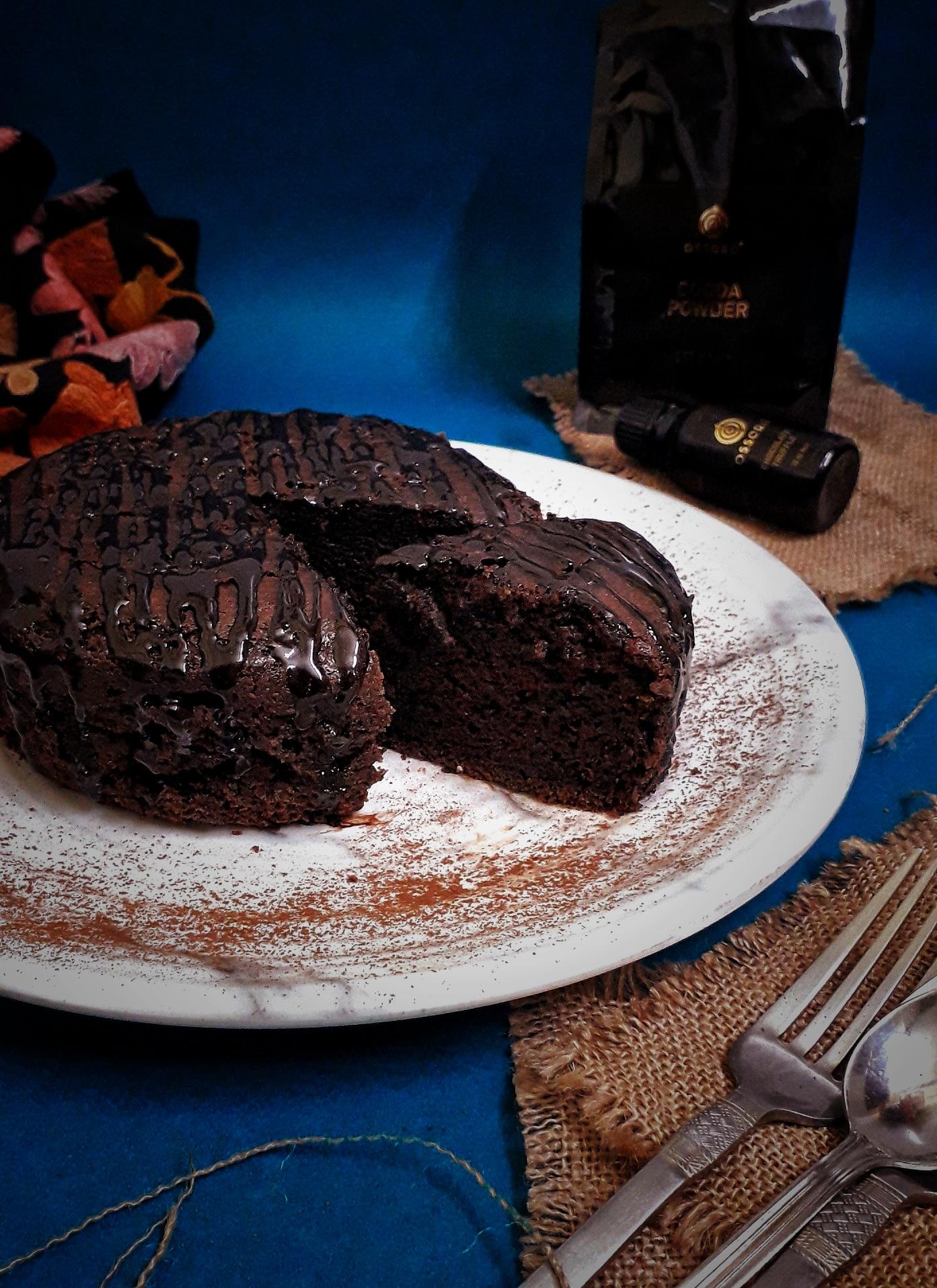 Eggless Chocolate Sponge Cake / Basic Chocolate Cake / Easy Chocolate Cake