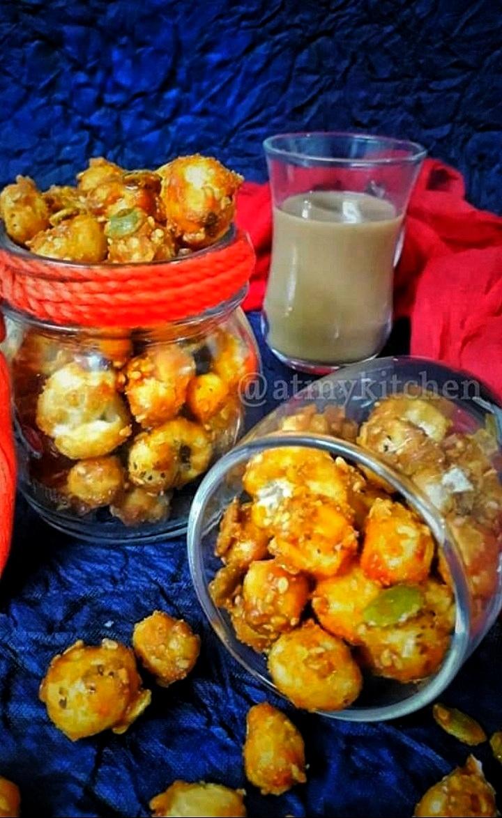 Caramel Makhana / Gur Makhane / Caramelized Lotus Seeds
