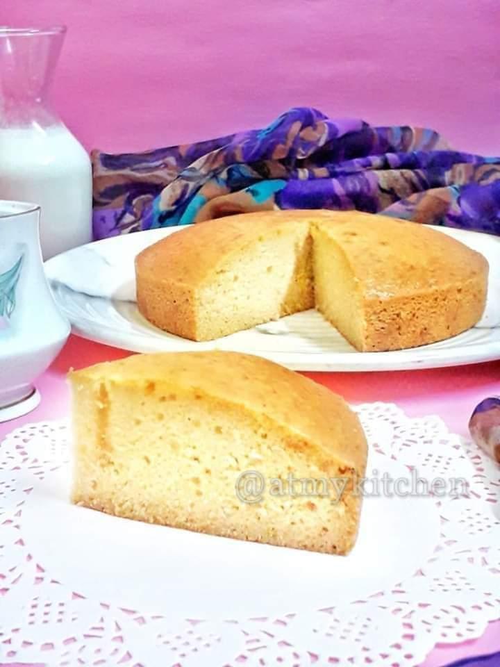 Eggless Malai Cake / Eggless Cream Cake / Fresh Cream Cake
